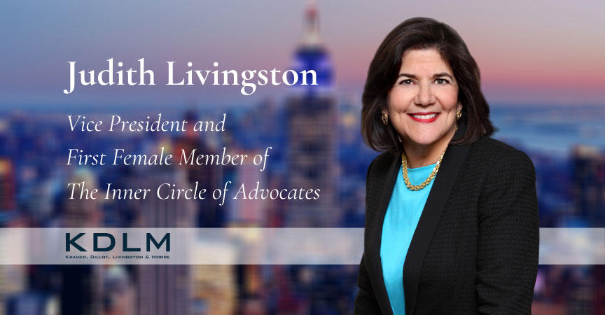 Judith Livingston: Vice President and First Female Member of The Inner Circle of Advocates