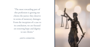 Judith Livingston quote on the legal profession