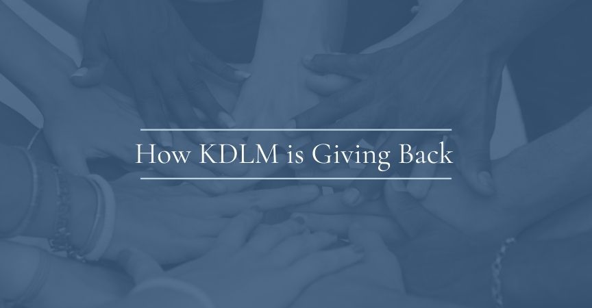 How KDLM is Giving Back