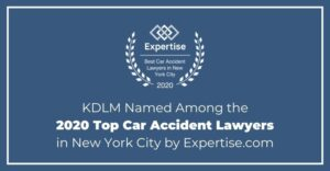 KDLM named among the 202 top car accident lawyers in new york city by expertise.com