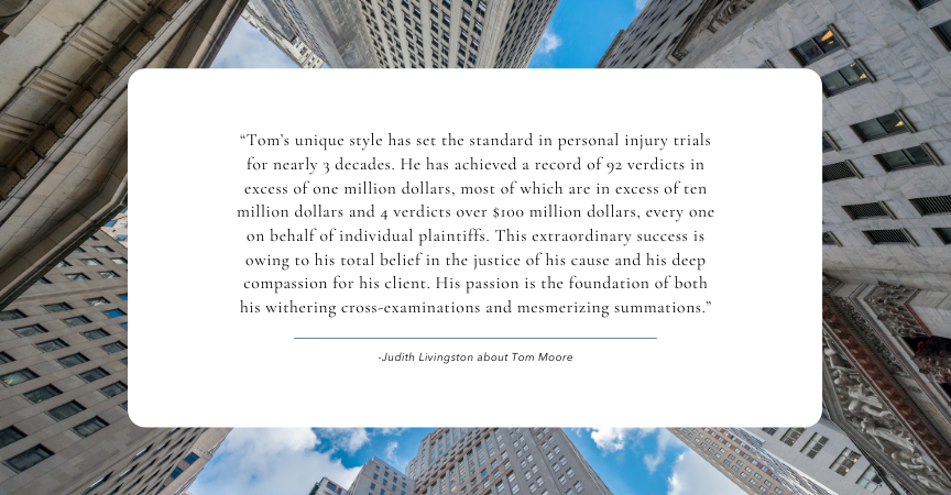 Tom Moore – Setting the Standard in Personal Injury Trials
