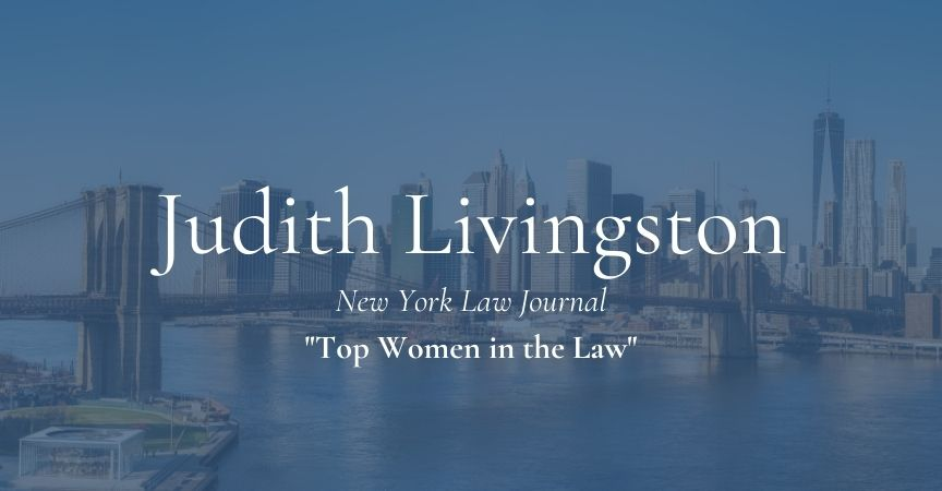 Judith Livingston – Top Women in Law