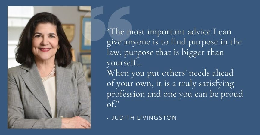 """Judith Livingston Featured in """"New York's Women Leaders in the Law"""""""