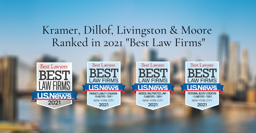 "Kramer, Dillof, Livingston & Moore Ranked in 2021 ""Best Law Firms"""