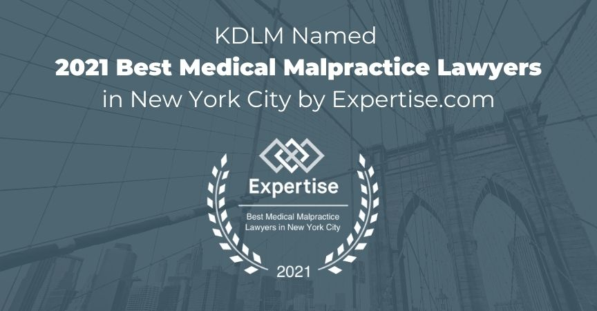 Named 2021 Best Medical Malpractice Lawyers in New York City by Expertise.com