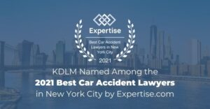 KDLM named among the 2021 best car accident lawyers in new york city by expertise.com