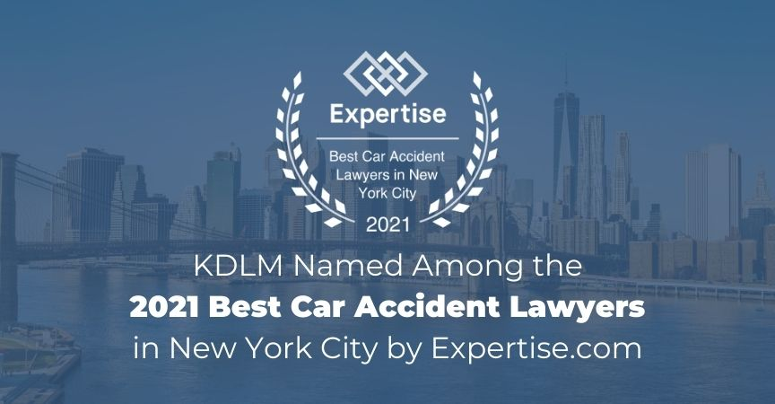 Named to 2021 Best Car Accident Lawyers in New York City List