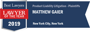 Matt-Gaier-Best-Lawyers-Lawyer-of-the-year-Product-Liability-2019-full